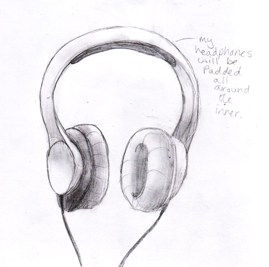 These are just some drawings of headphones and headphone shapes to give me an idea about how they look and all that jazz i researched how they are made by